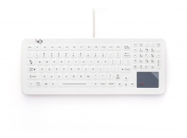 iKey SLK-102-TP-FL Cleanable Sealed Med. Keyboard + Touchpd