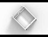 Wibrain, bovenaanzicht apparaat compartiment