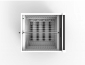 Wibrain, adapter compartiment, onder apparaat vloer